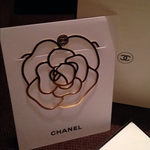 Accessories - CHANEL Beauty Gift Camellia Gold Bookmark
